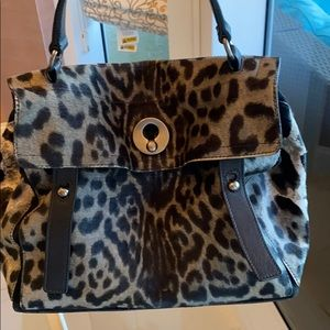 Grey leopard Yves Saint Laurent bag